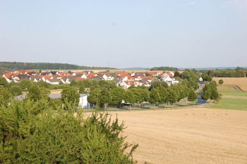Blick auf das Wohngebiet -Am Köppel-